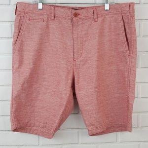 Express Classic Fit Linen Blend Flat Front Shorts